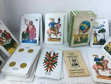 1981 sicilian tarot 61 card deck traditional lacks 3,spares decoupage crafting