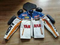 Jacket Leather Yamaha Motorcycle New Cowhide Racing Men Jackets Coat Motorcycles