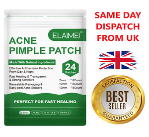 24 Acne Pimple Master Patches Spots Dots for Face Hydrocolloid Stickers UK STOCK