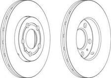 Genuine FERODO Front Axle Brake Discs (Pair) DDF927C - 12 Month Warranty