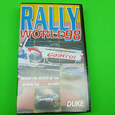 Rally Vhs Tape: Rally World 98, Vg Condition (B4)