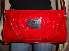 NWT GUESS FIERY RED CROSS BODY HANDBAG W/ G-LOGO ALL AROUND 100% AUTHENTIC