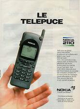 Publicité 1993  LE TELEPUCE téléphone NOKIA 2110