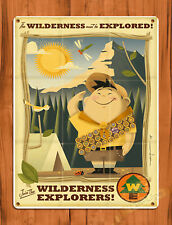 "Tin Sign ""Up Wilderness Explorer"" Disney Movie Pixar Art Wall Decor"