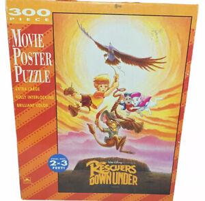 Vtg RARE Disney The Rescuers Down Under Movie Poster Puzzle 300 pieces 2x3 Ft