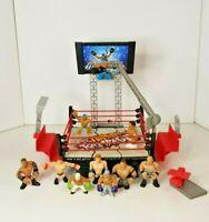 WWE Rumblers Rampage DEVASTADIUM Ring with 10 Wrestler Figures - Rey Mysterio