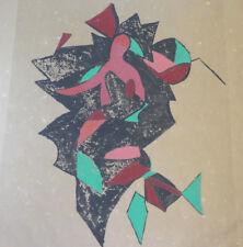Gravure Abstraite Originale 4/30 signée Michal GABRIEL 1960 Tchèque