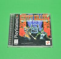 Crypt Killer (Sony PlayStation 1) PS1 Black Label Konami W. Manual - Tested