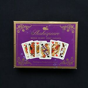 Vintage Non Standard Playing Cards Shakespeare 1970's Waddingtons Twin Deck