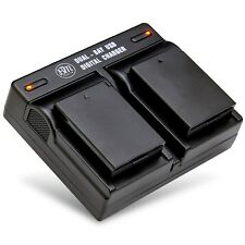 BM 2X LP-E10 Batteries + Dual Charger for Canon Rebel T3, T5, T6, T7, EOS 1300D