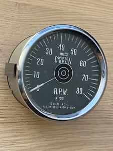 Rare Crypton MK III B.P.L Rev Counter Tacho Classic Mini Tachograph