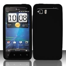 Silicone Skin Case for HTC Vivid - Black