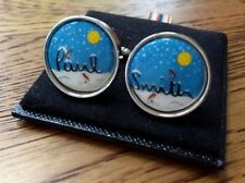 PAUL SMITH LOGO SNOW / WINTER SCENE SILVER TONE CUFFLINKS