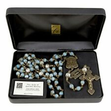 Our Lady of Lourdes, Teal Rosary, Limited Edition, Item #0220 of 1500