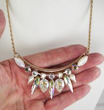 $175 MARIANA AURORA ROSE GOLD DANGLE PENDANT NECKLACE Swarovski Crystal  SALE