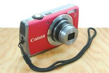 Canon PowerShot A3500 IS Digital Camera - 16MP, 5x Zoom, HD, WiFi, Red, NICE