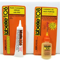 N ATLAS Best Loco Lubricants  Labelle Oil / PTFE Grease Lubes #108+106
