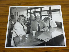 C1960s Large Photo: Group of People in a River Cruise Boat Cafe