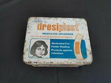 Vintage Old Surgichem Dresiplast Medicated Dressings Medicine Tin Box