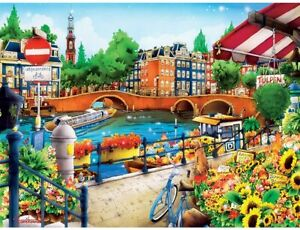 MasterPieces Travel Diary - Amsterdam 550pc Jigsaw Puzzle Europe Holland Flower