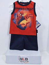 Marvel Spiderman Baby Boy's Tank Top Shirt and Gym Shorts Set Size 24 Months