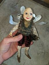 """Mark Roberts Mystical Wizard Jointed Knees 8"""" Christmas Ornament"""