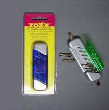 SCHRAUBENDREHER mit 2 magnet Bit-Halter und 6 Bits blau Bitset