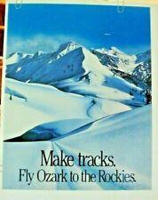 OZARK AIRLINES POSTER Make Tracks Fly Ozark Rockies ORIGINAL 1970-80's VINTAGE