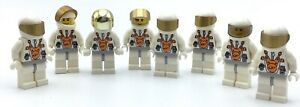 LEGO LOT OF 8 MARS SPACE ASTRONAUT FIGURES NASA MINIFIGS