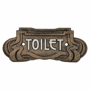 Art Nouveau Toilet Cast Iron Sign Plaque Door Wall Cafe Shop Pub Hotel Bar