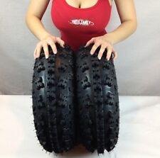 TWO 21x7-10 NEW ATV TIRES (PAIR) YAMAHA RAPTOR 660 700 YFZ450 21x7x10 FRONT SET