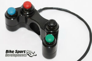 Motorcycle handlebar switches for race bikes - 4 button array
