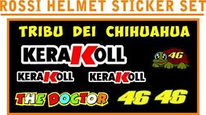 VALENTINO ROSSI KERAKOL Hemet &Visor Decal Stickers