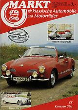 2129OM Oldtimer Markt 1986 2/86 Isetta Fiat 514 Lloyd VW Typ 166 Karmann Ghia