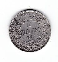 1897 South Africa Silver Shilling Coin ZAR U-615