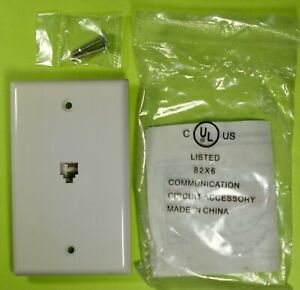 Philmore Phone Jack Wall Mount Plate Telephone 4-Conductor RJ11 TWP49 Lot/21 pcs
