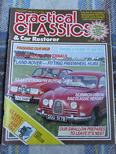 PRACTICAL CLASSICS AUG 1986 MGB DUKW TO WATER LAND-ROVER SWALLOW MINI GEARBOX