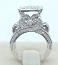 Fashion Men's Jewelry White Gold White Topaz Ring Wedding Anniversary Gift 6-10
