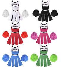Cheerleader Fancy Dress Costume Adults Cheer Uniform Outfit High School Sport