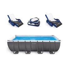 "Intex 18' X 9' X 52"" Ultra Frame Rectangular Swimming Pool Deluxe Set"