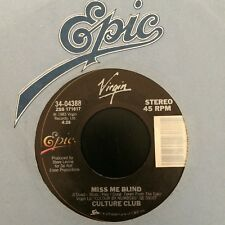 """CULTURE CLUB~MISS ME BLIND / COLOUR BY NUMBERS (7"""" 45RPM Epic 4388) VG++!"""