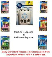 NEW JUST PURE 3TATION REFILL 20ML 90 DAYS FRAGRANCE  AMBI PUR 3VOLUTION MACHINE