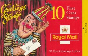 MINT  1995 CLOWNS GREETINGS STAMPS FIRST CLASS BOOKLET KX7 LIKE NEW