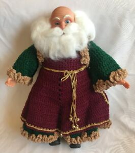 "Vintage Crochet 16"" Santa Claus Father Christmas Fibre Craft Finished Completed"