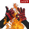 2PCS Heat Resistant Silicone BBQ Gloves Cooking Grill Barbecue Kitchen Oven Mitt