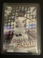 2020 Topps Chrome YORDAN ALVAREZ RC Rookie Freshman Flash Insert Houston Astros