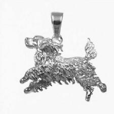 Sterling Silver COCKER SPANIEL DOG 3D Solid Pendant / Charm, Made in USA