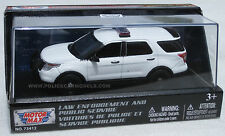 Motormax 1/43 2015 Ford PI Utility Police SUV - Blank White - Great For Customs