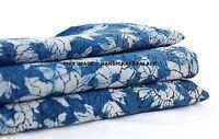 2.5 Yard Hand Block Print Indian Handmade Cotton Natural Sanganeri Print Fabric