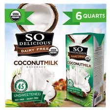 So Delicious Organic Coconut Milk, 32 oz., 6-count